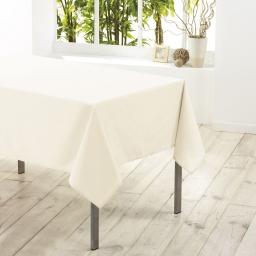 Nappe carree 180 x 180 cm polyester uni essentiel Naturel