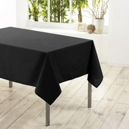 Nappe carree 180 x 180 cm polyester uni essentiel Noir