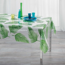 nappe cristal rectangle 140 x 240 cm pvc imprime 14/100e amazonie