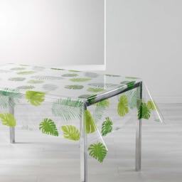 nappe cristal rectangle 140 x 240 cm pvc imprime 14/100e caribean