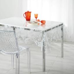 nappe cristal rectangle 140 x 240 cm pvc imprime 14/100e floralie