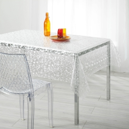 nappe cristal rectangle 140 x 240 cm pvc imprime 18/100e goutte