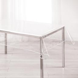 Nappe cristal rectangle 140 x 240 cm pvc uni 15/100e garden/biais Blanc