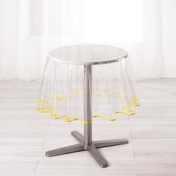 Nappe cristal ronde (0) 180 cm pvc uni 15/100e garden/biais Jaune