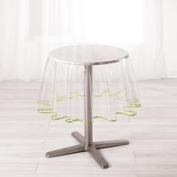 Nappe cristal ronde (0) 180 cm pvc uni 15/100e garden/biais Menthe
