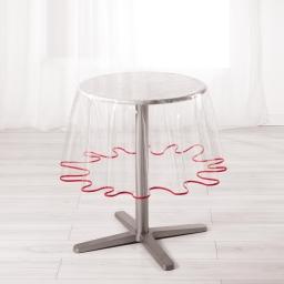 Nappe cristal ronde (0) 180 cm pvc uni 15/100e garden/biais Rouge
