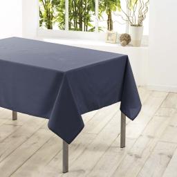 Nappe rectangle 140 x 200 cm polyester uni essentiel Beton