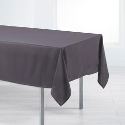 Nappe rectangle 140 x 200 cm polyester uni punchy Acier