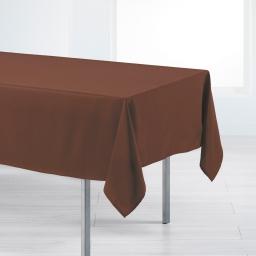 Nappe rectangle 140 x 200 cm polyester uni punchy Choco