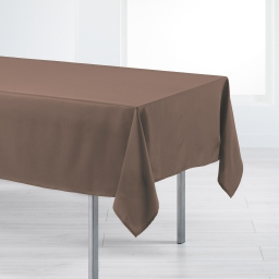 Nappe rectangle 140 x 200 cm polyester uni punchy Noisette