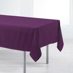 Nappe rectangle 140 x 200 cm polyester uni punchy Prune