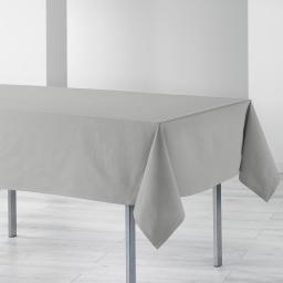 Nappe rectangle 140 x 240 cm coton uni ideale Gris