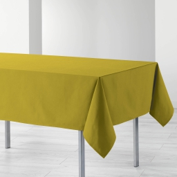 Nappe rectangle 140 x 240 cm coton uni ideale Miel