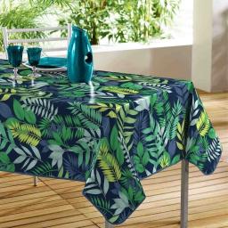 Nappe rectangle 140 x 240 cm en toile cirée pvc palma Bleu
