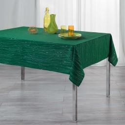 Nappe rectangle 140 x 240 cm polyester applique filiane Emeraude