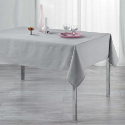Nappe rectangle 140 x 240 cm polyester applique filiane Gris