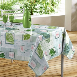 nappe rectangle 140 x 240 cm pvc imprime bahia