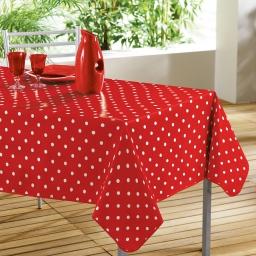 Nappe rectangle 140 x 240 cm pvc imprime lollypop Rouge/Blanc