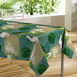 Nappe rectangle 140 x 240 cm pvc photoprint cacatoes Vert