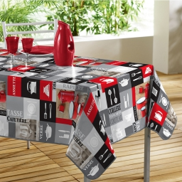 nappe rectangle 140 x 240 cm pvc photoprint gastronome