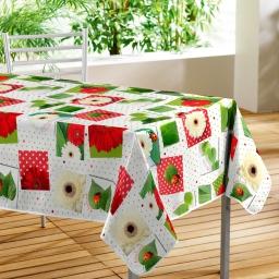Nappe rectangle 140 x 240 cm pvc photoprint ladybird Blanc