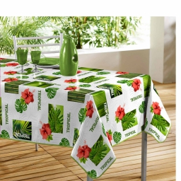 Nappe rectangle 140 x 240 cm pvc photoprint salvador Blanc