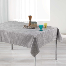 Nappe rectangle 140 x 250 cm jacquard alisson Gris