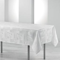 Nappe rectangle 140 x 250 cm jacquard damasse calice Blanc