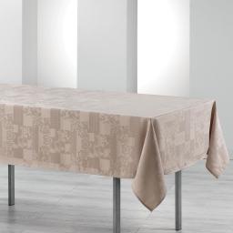 Nappe rectangle 140 x 250 cm jacquard damasse calice Lin
