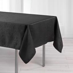 Nappe rectangle 140 x 250 cm jacquard damasse elia Noir