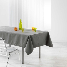 Nappe rectangle 140 x 250 cm jacquard enduit liany Anthracite