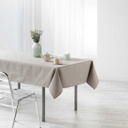 Nappe rectangle 140 x 250 cm jacquard enduit liany Gris