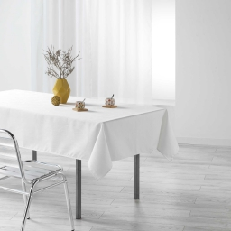 Nappe rectangle 140 x 250 cm jacquard enduit liany Naturel