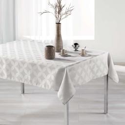 Nappe rectangle 140 x 250 cm jacquard tivolina Naturel