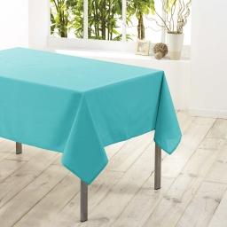 Nappe rectangle 140 x 250 cm polyester uni essentiel Menthe