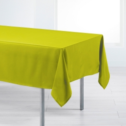 Nappe rectangle 140 x 250 cm polyester uni punchy Anis