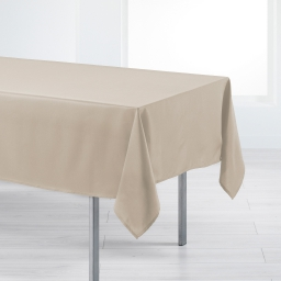 Nappe rectangle 140 x 250 cm polyester uni punchy Sable