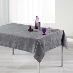 Nappe rectangle 140 x 300 cm jacquard alisson Anthracite