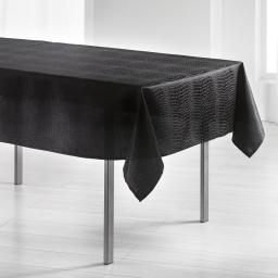 Nappe rectangle 140 x 300 cm jacquard damasse serpentile Noir