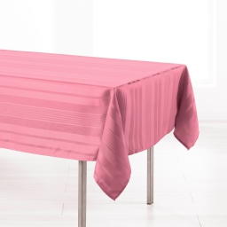 Nappe rectangle 140 x 300 cm jacquard damasse smart Rose