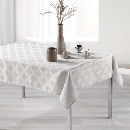 Nappe rectangle 140 x 300 cm jacquard tivolina Naturel