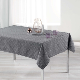 Nappe rectangle 140 x 300 cm jacquard tokio Anthracite