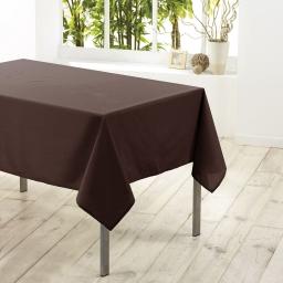 Nappe rectangle 140 x 300 cm polyester uni essentiel Brun
