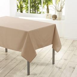 Nappe rectangle 140 x 300 cm polyester uni essentiel Lin