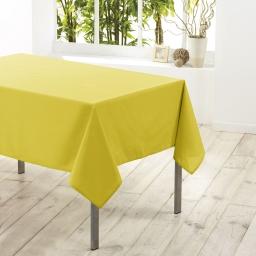 Nappe rectangle 140 x 300 cm polyester uni essentiel Tilleul