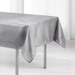Nappe rectangle 140 x 300 cm shantung applique scintille Gris