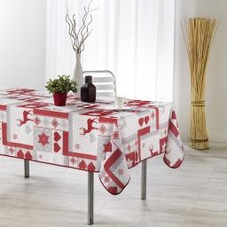 nappe rectangle 150 x 200 cm fils coupes imprime winter love