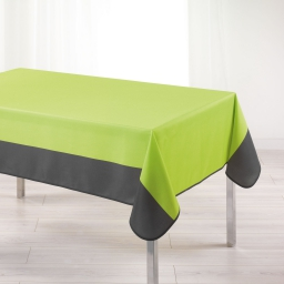 Nappe rectangle 150 x 240 cm polyester bicolore garden Menthe/Anthracite