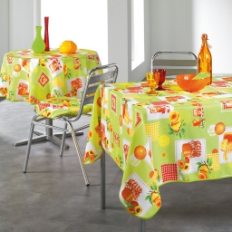 nappe rectangle 150 x 240 cm polyester imprime abricots