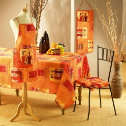 Nappe rectangle 150 x 240 cm polyester imprime afrika Epices